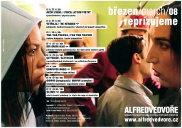 "Poster of the theater ""Alfréd ve dvoře"""